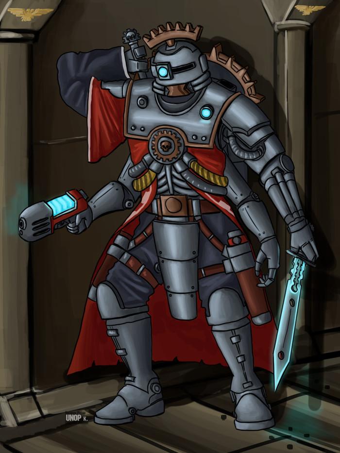 "Борис-""Хрен-Убьешь""-Скитарий Wh Art, Warhammer 40k, Warhammer, Adeptus Mechanicus, Skitarii, Заказ"