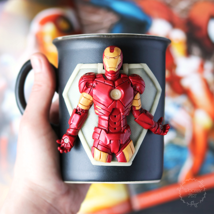 Железный человек Marvel, Мстители, Полимерная глина, Железный человек, Длиннопост