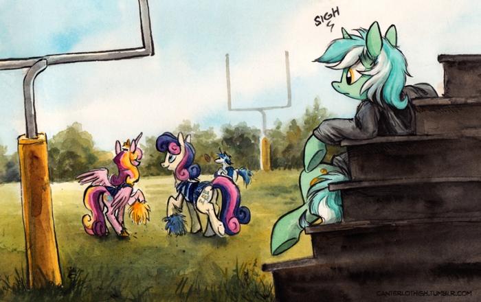 Лира (вздыхает) My Little Pony, Lyra Heartstrings, Bon Bon, Ponyart, Shining Armor, Princess Cadance, Spainfischer, Kenket