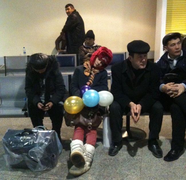 Незабываемая встреча в аэропорту Реальная история из жизни, Картинка с текстом, Аэропорт, Встреча, Сюрприз, Воздушные шарики