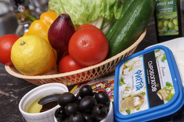 "Вкус ""Греции"" дома. Еда, Греческий, Салат, Готовим дома, Не повар, Длиннопост"