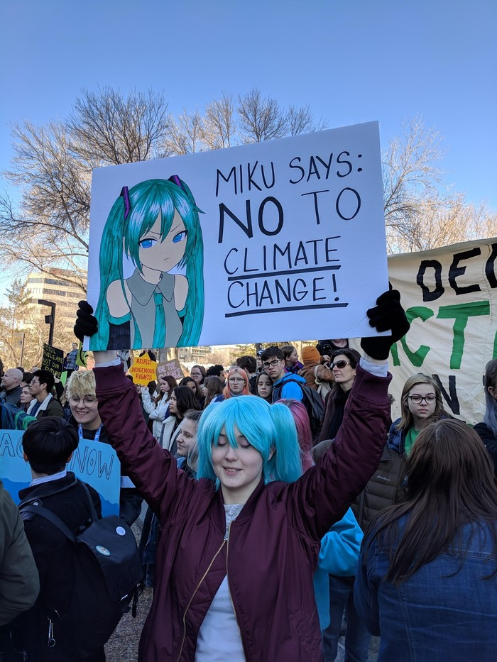 Мику говорит: НЕТ изменению климата!