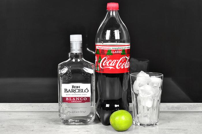 """Коктейль-лонг """"Куба Либре"""" Алкоголь, Коктейль, Коктейль-Лонг, Бар, Рецепт, Длиннопост, Куба Либре, Ром, Coca-Cola"""