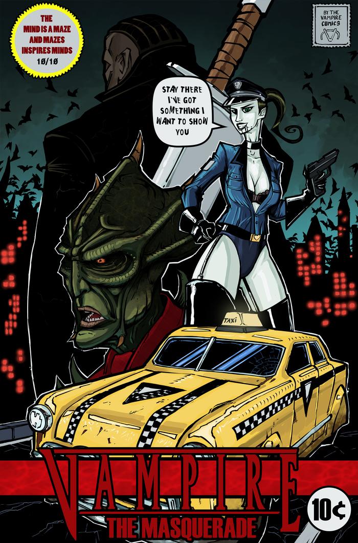 Vampire The Masquerade Обложка комикса.