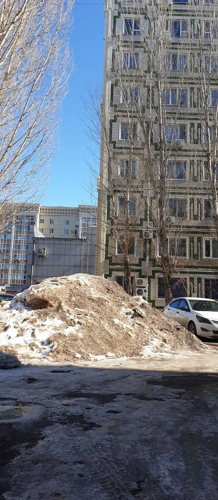 Как мы боремся с кучей снега Уборка снега, Акимат, Работа, Снег, Приложение, Казахстан, Длиннопост