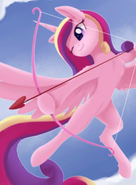 Hearts, Hooves and Arrows. My Little Pony, Princess Cadance, Гифка, Dusthiel, Szafir87