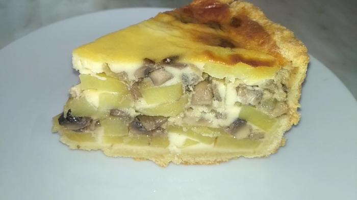 Пирог с грибами и картошкой Кулинария, Длиннопост, Видео рецепт, Пирог, Видео, Рецепт, Грибы, Картофель