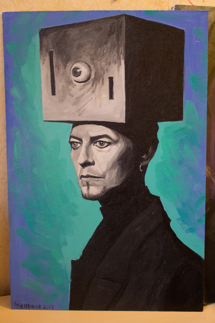 David Bowie Арт, Портрет, Дэвид Боуи, Фан-Арт, Живопись, Акрил