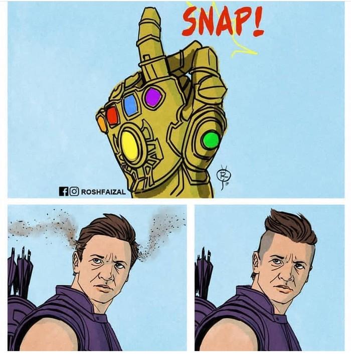 Преображение по щелчку пальцев. Картинки, Вселенная Marvel, Соколиный глаз, Мстители