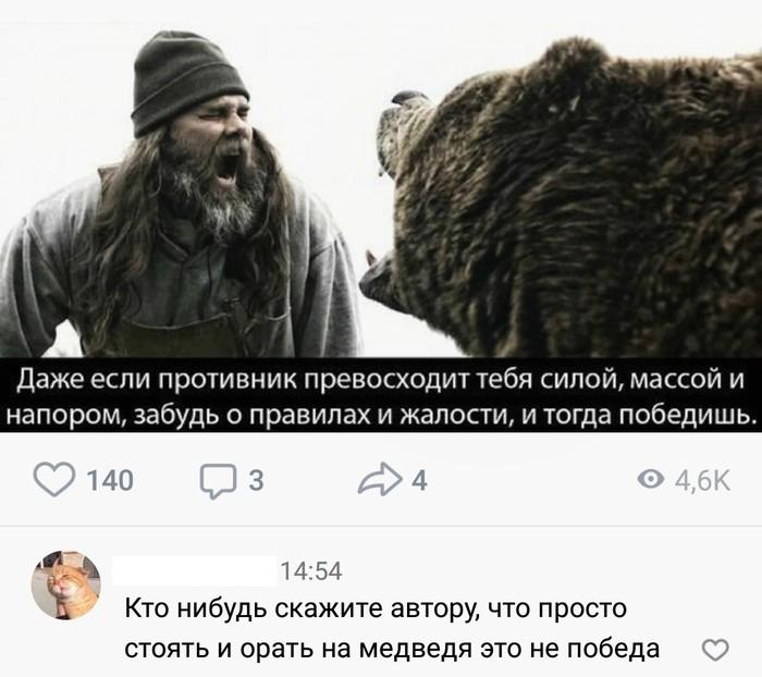 И то правда Пафос, Ванильная цитата, Суровость, Стеб, Медведь, Скриншот