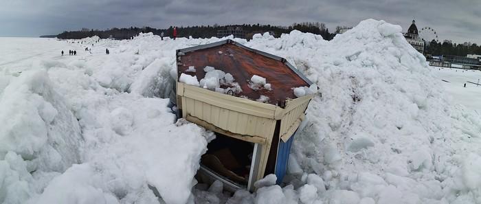 Лёд на финском заливе Море, Лёд тронулся