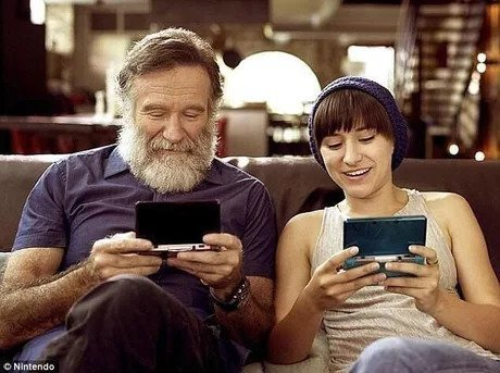 Робин Уильямс и его дочь Зельда