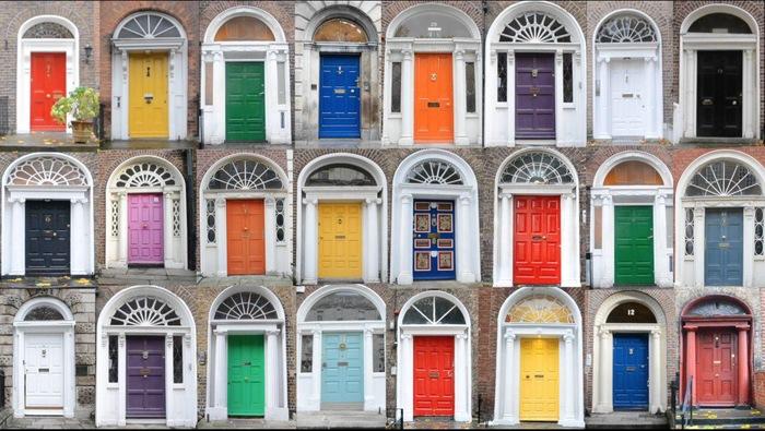 Цветные двери или ирландский лайфхак Цветные двери, Лайфхак, Ирландцы, Ирландия