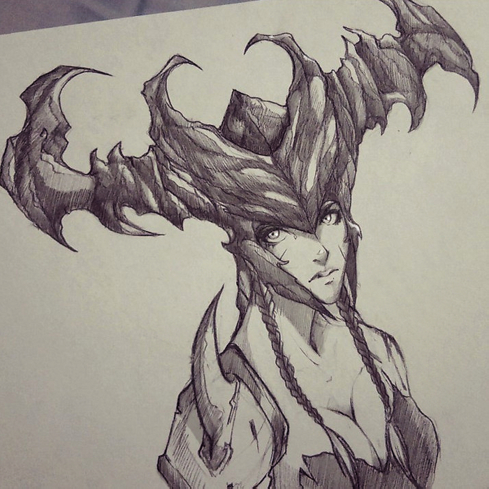 Shyvana. League of Legends. Fan-Art.