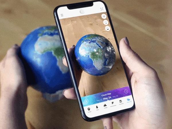 EARTH 3d: макет Земли  дополненной реальностью Kickstarter, Indiegogo, Гаджеты, Модели, Земля, Космос, Круто, Гифка, Видео, Длиннопост