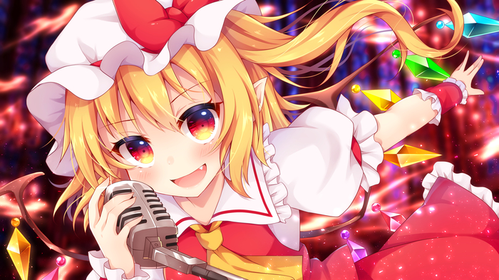 It's Showtime!! Touhou, Anime Art, Аниме, Flandre Scarlet, Miy