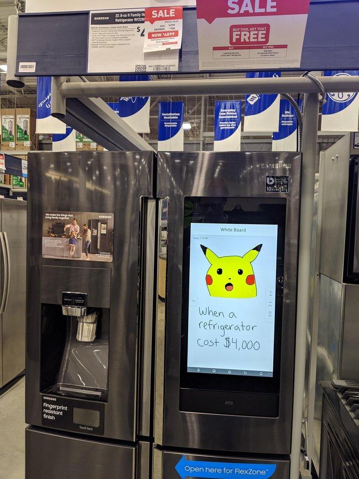 Когда холодильник стоит 4000$