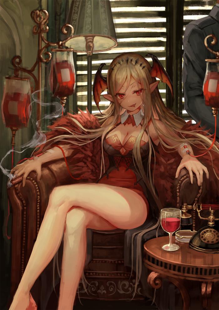 Сделка кровью Anime Art, Аниме, Арт, Anime Original, Tamarashi