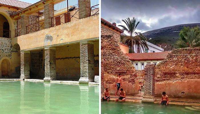 Эта римская баня была построена более 2000 лет назад и до сих пор работает Баня, Древность, Длиннопост, Алжир