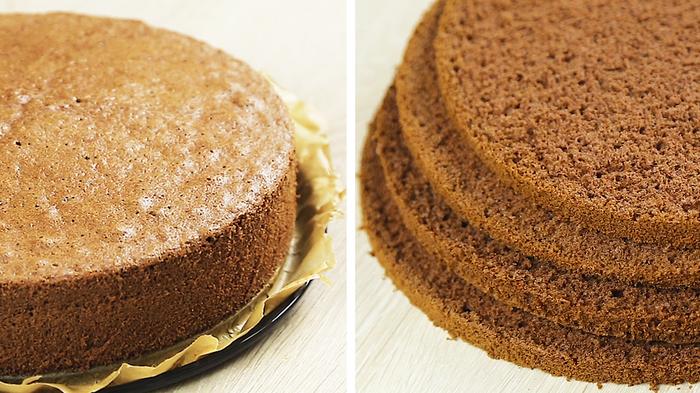 Шоколадный бисквит Бисквит, Шоколадный торт, Видео рецепт, Видео, Длиннопост, Выпечка, Рецепт
