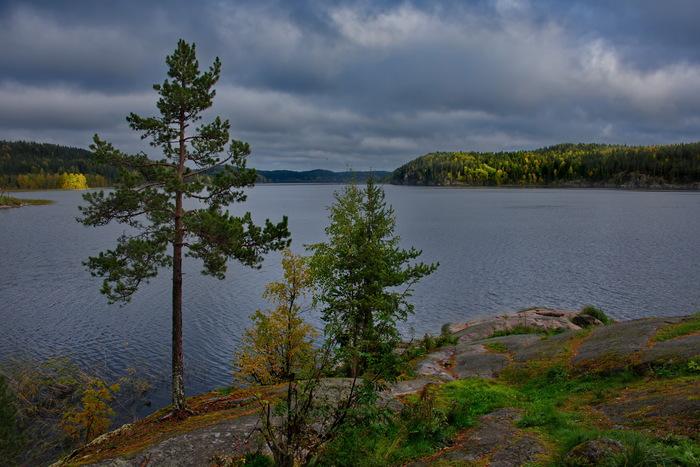 Хмурая осень на Ладоге Карелия, Ладога, Ладожское озеро