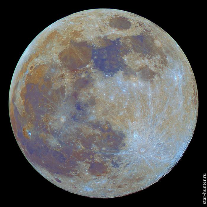 Цветная Луна, 21 марта 2019 года Луна, Астрофото, Астрономия, Космос, Starhunter, Анападвор