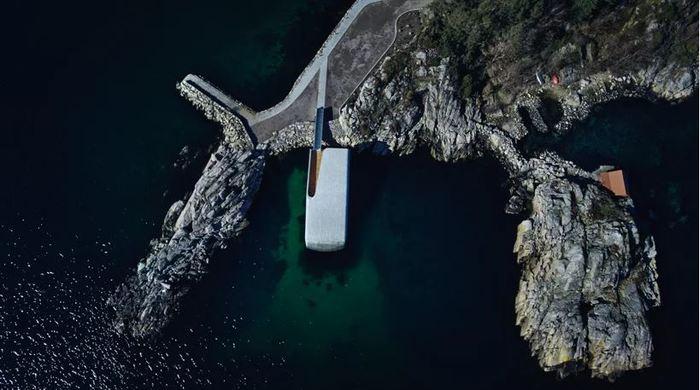 Подводный ресторан в Норвегии. Норвегия, Архитектура, Современная архитектура, Длиннопост, Отель, Под водой