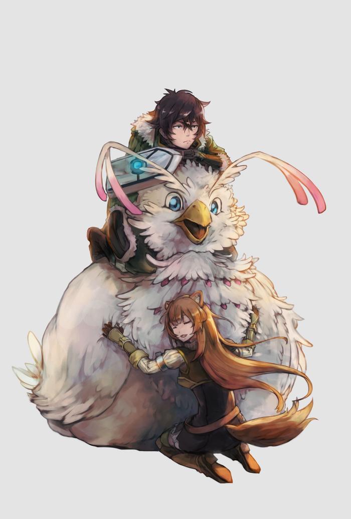Енотка и компания Tate No yuusha No nariagari, Raphtalia, Аниме, Anime Art, Filo, Naofumi, Iebisu, Длиннопост, Animal Ears