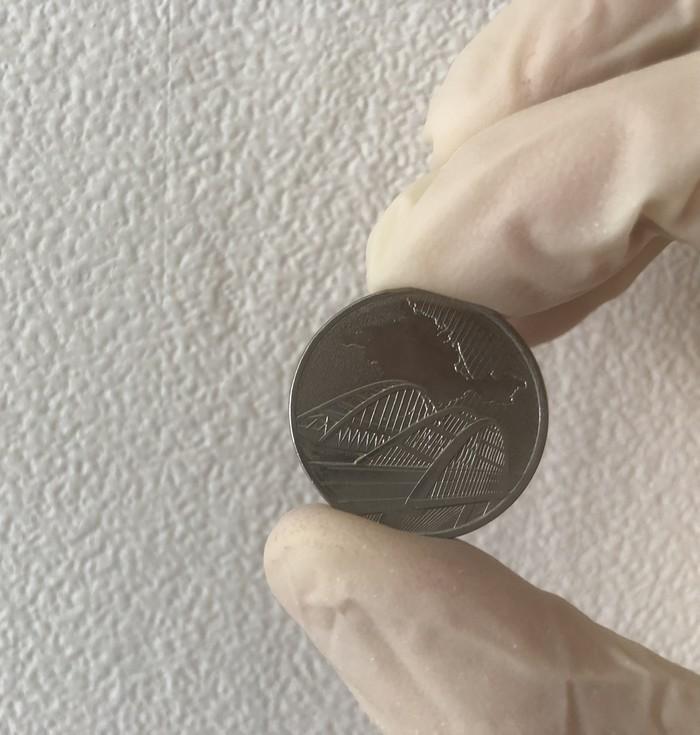 5 рублей 2019 года Новая монета России Монета, Крым, Крымский мост, Нумизматика, Видео, Длиннопост