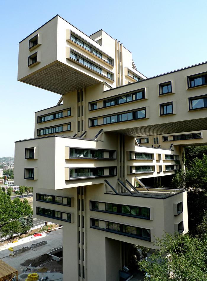 Здание Министерства автомобильных дорог, Тбилиси (в прошлом) Архитектура, Тбилиси, Здание, Длиннопост