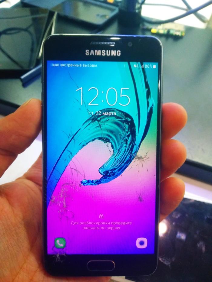 Переклейка стекла Samsung A3 (a310f) Ульяновск, Ремонт техники, Samsung, Переклейка дисплея, Ремонт телефона, Длиннопост