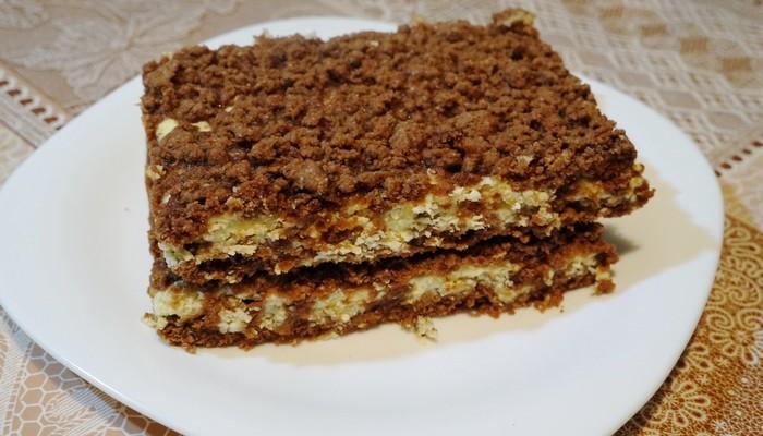 Шоколадная королевская ватрушка Пирог, Пирог с творогом, Десерт, Видео, Длиннопост, Праздничный стол