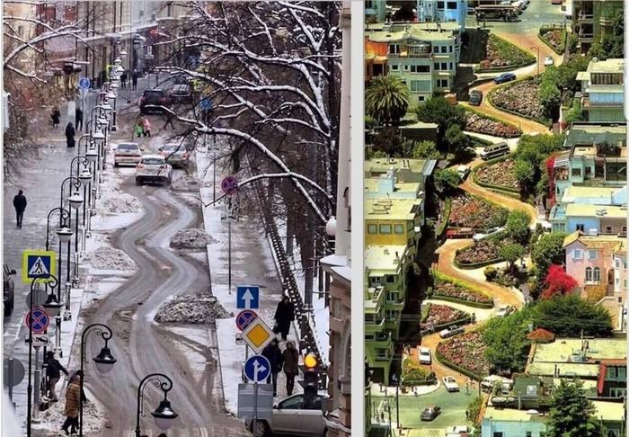 Улица Москва, Сан-Франциско, Сходство