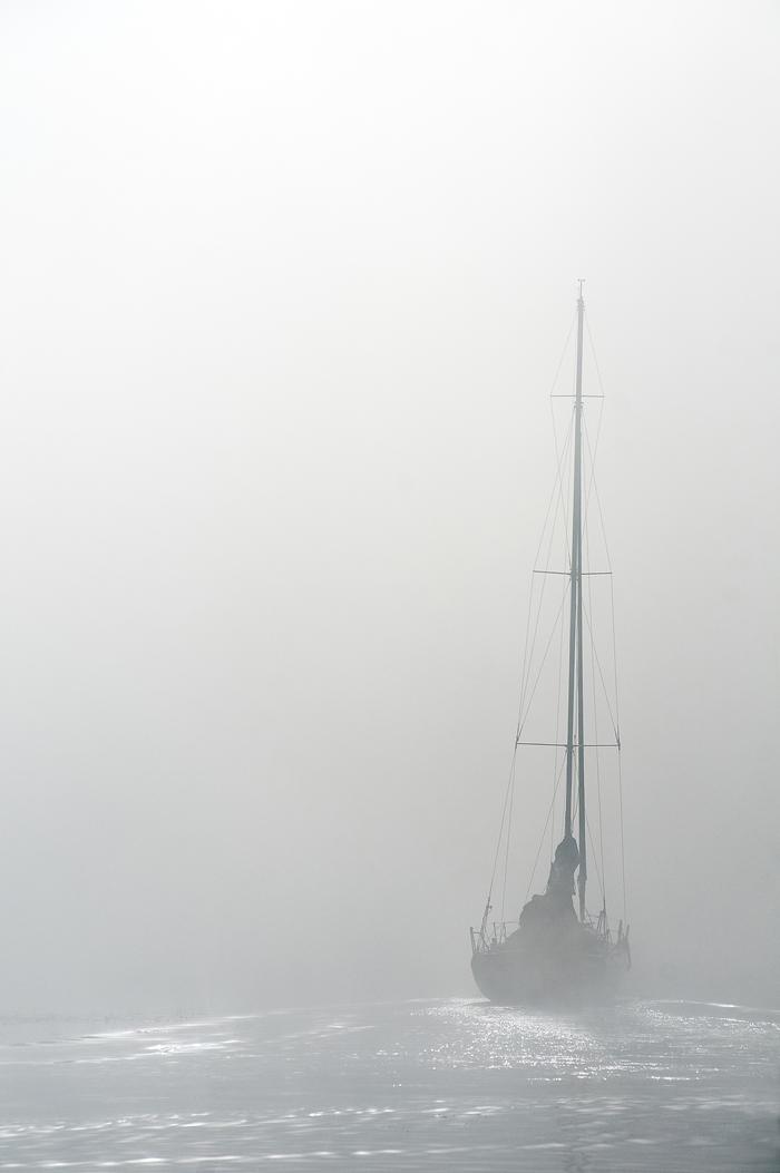 Утро перед гонкой. Туман, Яхта, Утро, Фотография, Яхтинг