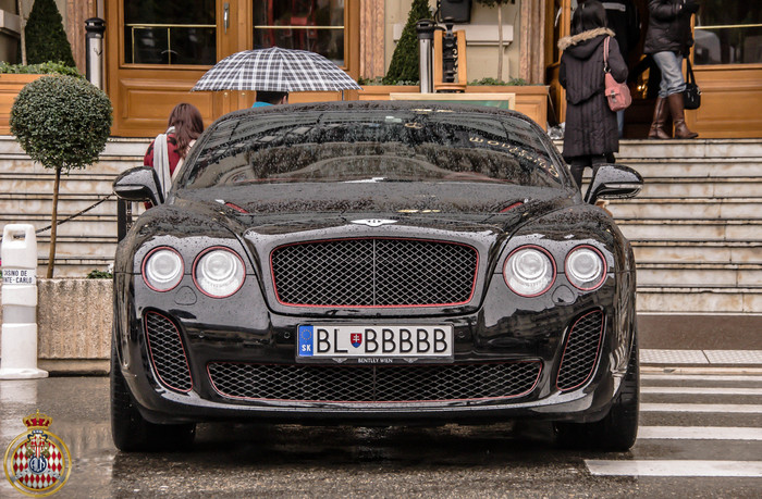 Номерок блатной Авто, Номер, Bentley Continental