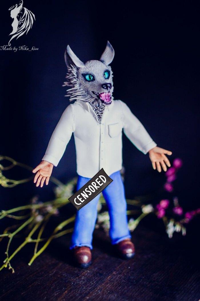 Человек-волк из полимерной глины. Ручная работа, Человек, Волк, Полимерная глина, Человек-Волк, Nika_kiss, Длиннопост