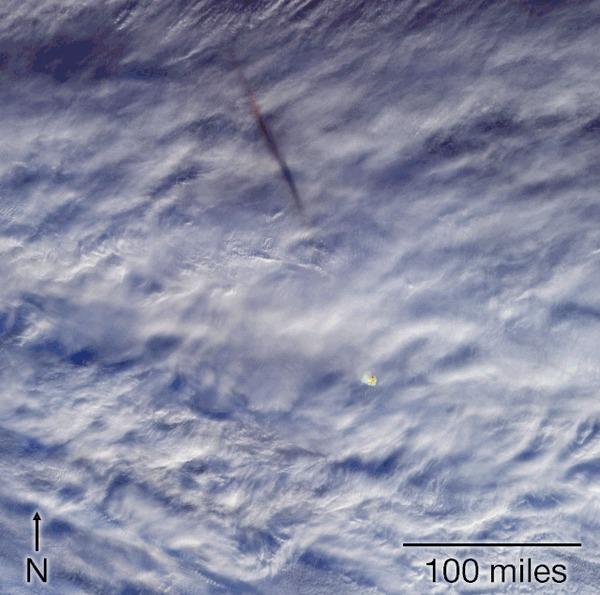 Взрыв метеорита над Беринговым проливом NASA, Метеорит, Взрыв, Космос, Гифка, Фотография