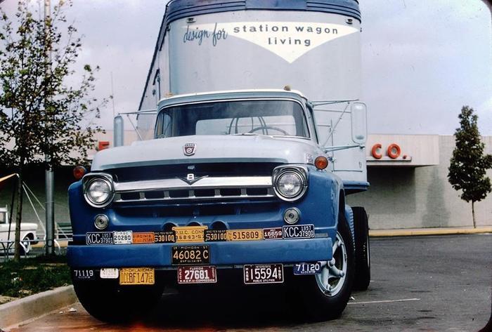 1957 Ford Грузовик, Авто, Старое фото