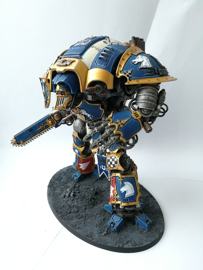 Baron Imperial knights house Terryn Wh miniatures, Длиннопост, Imperial Knight, Imperium, Хобби, Миниатюра, Warhammer 40k
