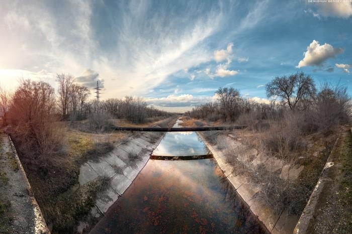 В преддверии Весны) Канал, Весна, Пейзаж, Небо, Панорама, Фотография, Nikon, Hdr