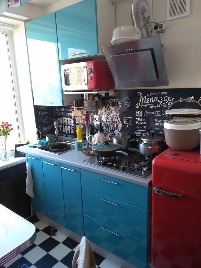 Кухня в стиле кафе Кухня, Кафе, США, Длиннопост