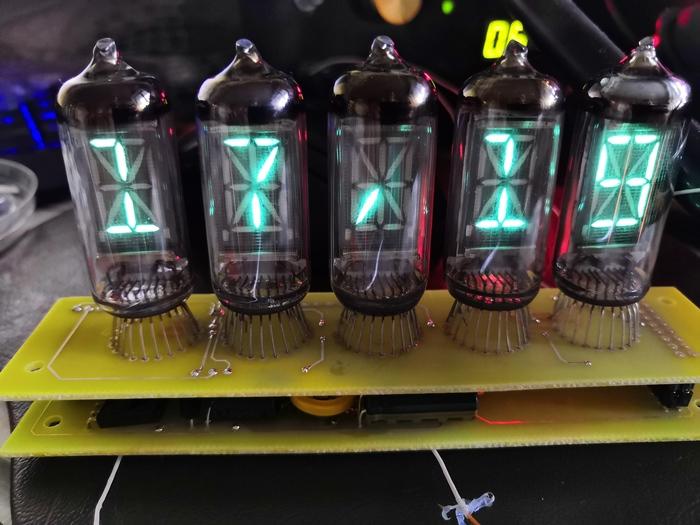 Холодные часы v2.0 Часы, Nixie clock, Гифка, Видео, Длиннопост