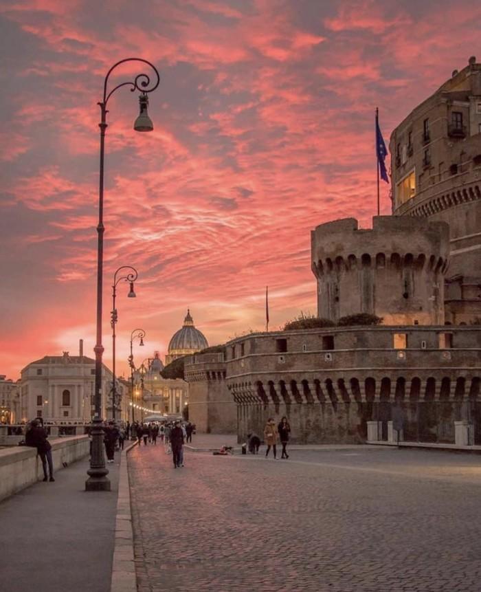 Закат в Риме