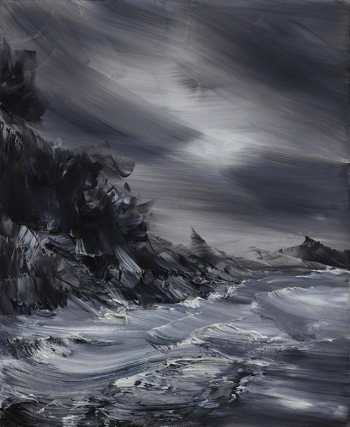 Скалы Арт, Картина, Рисунок, Художник, Искусство, Море, Океан, Скалы