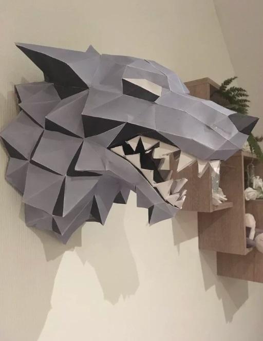Papercraft лютоволк
