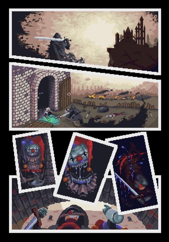 Совместный комикс в пиксельарте Pixel Art, Комиксы, Коллаб, Длиннопост