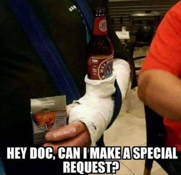 Доктор, у меня к вам маленькая просьба...