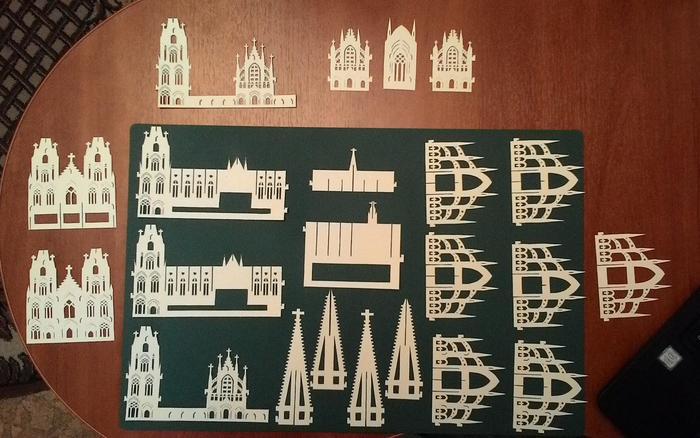 Дженигами: Кёльнский собор Киригами, Дженигами, Из бумаги, Готика, Кельнский собор в Германии, Длиннопост
