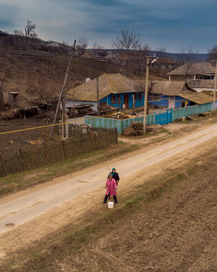 Экскурсия над молдавским селом Дрон, Фотография, Село, Молдова, МЧС, Длиннопост