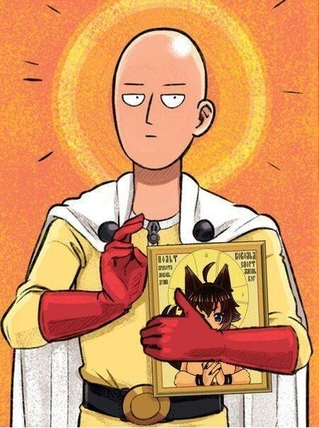 Бог аниме Аниме, Onepunchman, Saitama, Икона, Юмор
